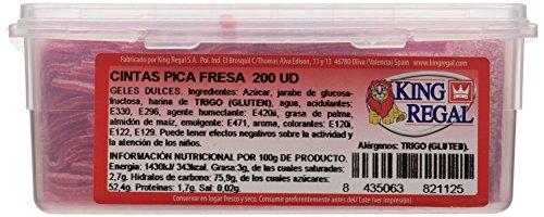 King Regal Cintas Pica Fresa - estuche 200 unidades