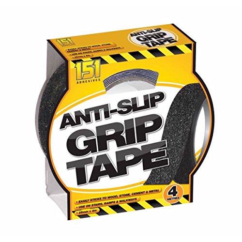 Holland Plastics Original Brand Anti Slip Grip Tape. Intérieur ou extérieur Utilisation- 4 mètres- 25 mm de Large