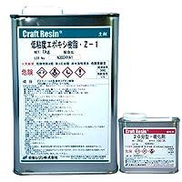 低粘度 エポキシ樹脂 Z-1 主剤 1kg & 硬化剤250g セット (20分型硬化剤)