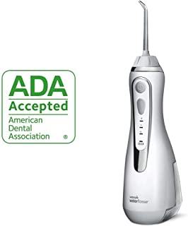Waterpik Cordless Water Flosser Rechargeable Portable Oral irrigator for Travel & Home – Cordless Advanced, Wp-560 White