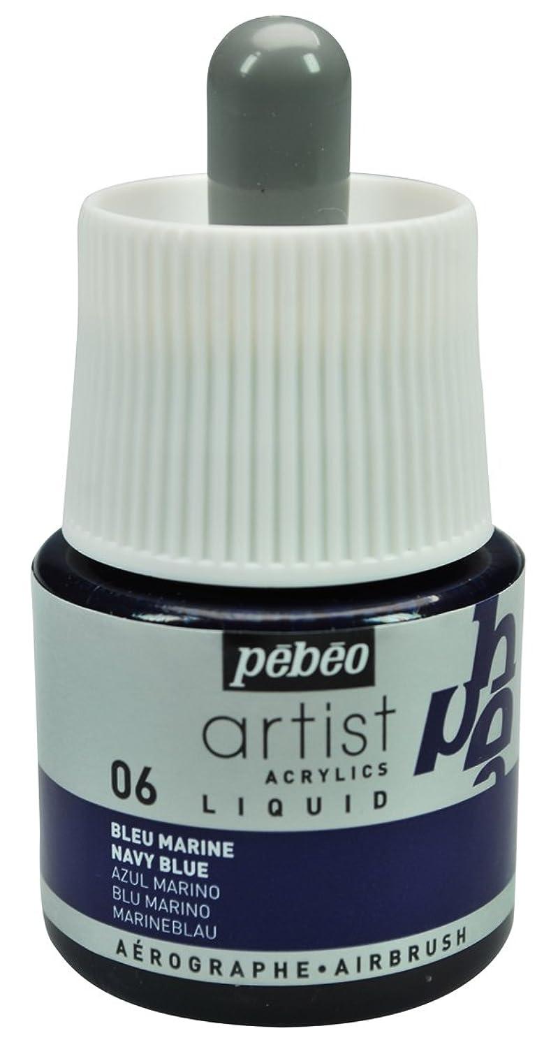 Pebeo Artist Acrylics, Liquid Acrylic Ink, 45 ml Bottle with Dropper - Navy Blue
