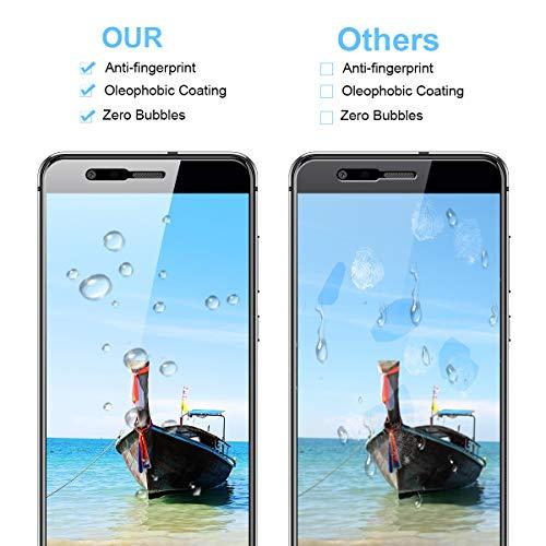 CRXOOX Panzerglas Schutzfolie für Huawei P10 Lite Panzerglasfolie - 9H Härte Folie, Anti Bläschen Anti Kratzen Ultra Dünner HD Displayschutzfolie Panzerfolie - 2
