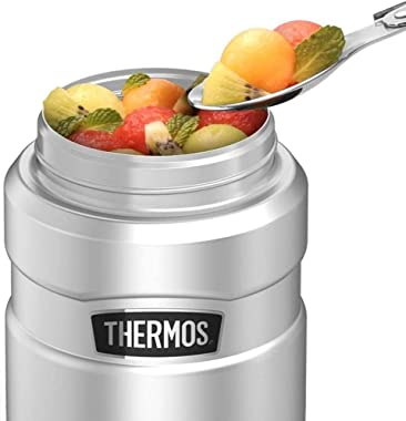 Scooby-Doo Scooby And Shaggy Snacks THERMOS STAINLESS KING Stainless Steel Food Jar with Folding Spoon, Vacuum insulated &amp