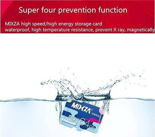 Built for Lifetime of Use! Heat /& Cold Resistant UHS-395MBs MIXZA Performance Grade 128GB Verified for Sony E2105 MicroSDXC Card is Pro-Speed
