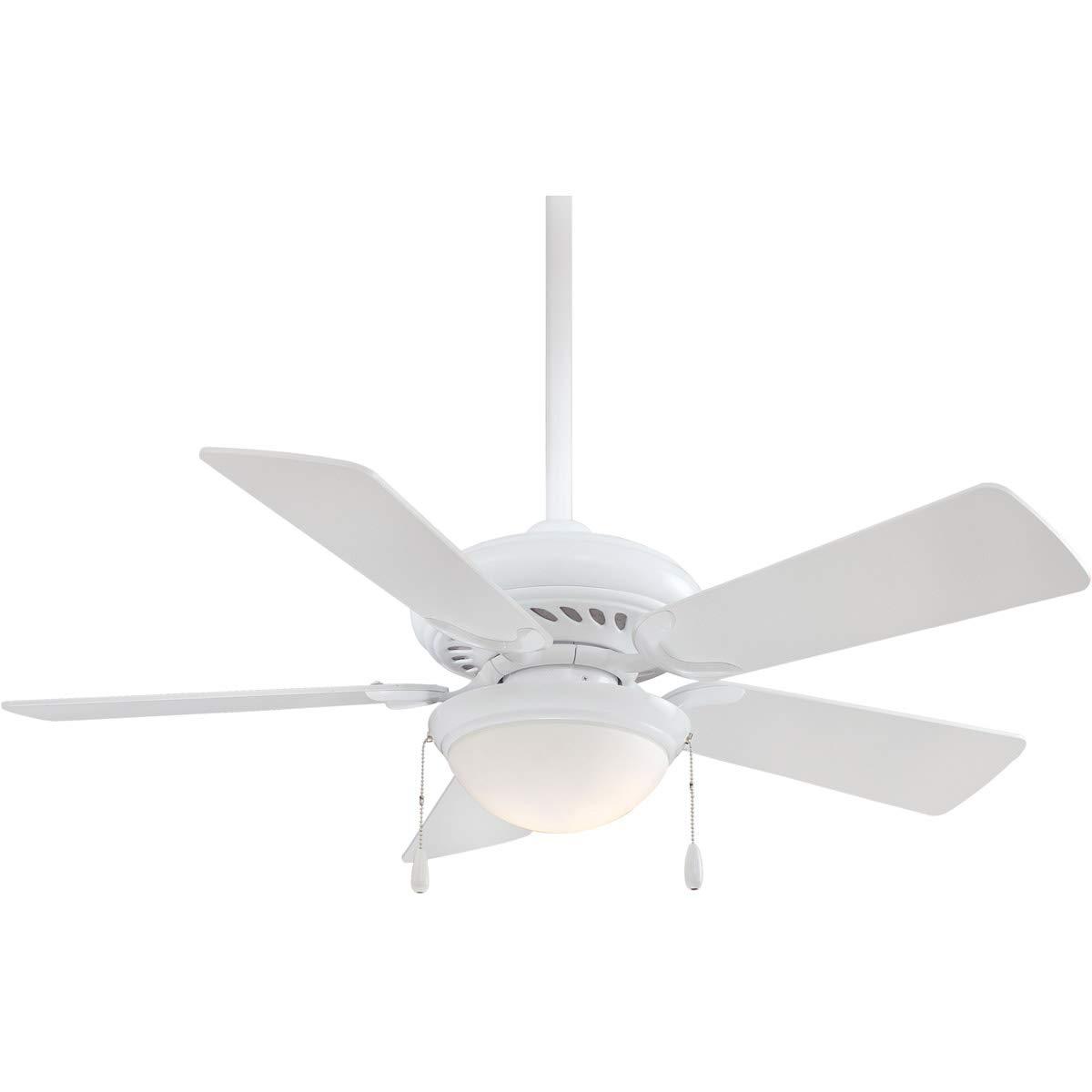 Supra - Ventilador de techo con 5 aspas (111,7 cm), color blanco ...