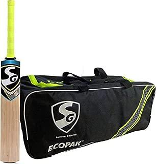 SG Essential Cricket Kit with Bat and Bag (Ecopak Cricket Kitbag + Nexus Plus Kashmir Willow Cricket Bat, Short Handle) Cricket Kit