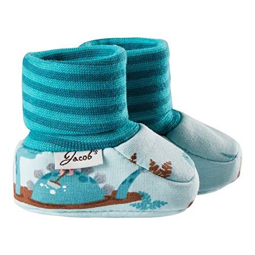 Jacob`s Chaussures bébé à enfiler chaussures bébé, dino turquoise