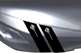 Fender Hash Mark Bars Vinyl Racing Stripes Graphic Decals 4