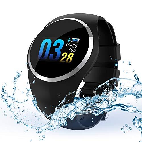 Smartwatch Bracciale Intelligente Q1,Touch Screen IP67 Impermeabile con Lingua Italiana Bluetooth 4.0 Frequenza cardiaca/Pressione sanguigna/GPS Sportivo(Nero)