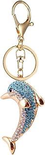 LianLe Dolphin Keychain for Women - Novel Fashion Car Key Ring Bag Pendant (Blue)