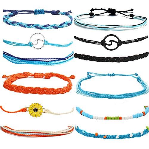Sunflower Bracelets for Teen Girls,Handmade Waterproof Adjustable Braided Rope Anklets Women Boho Summer Beach Anklet Jewelry Gifts …Main