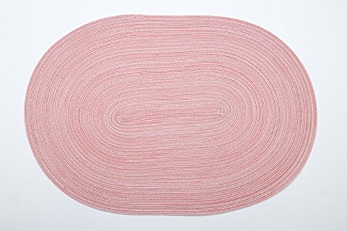 Wohntextilien 4You Pichler 4er-Set Tischsets Samba 48x33 cm oval, in verschidenen Farben PC-Peach