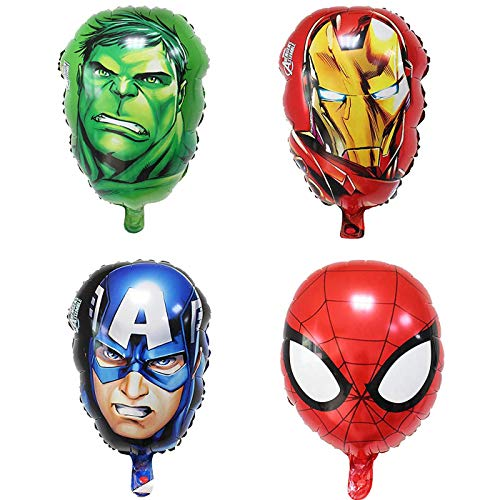 Bsstr Superhero Birthday Party Decorations Kids Birthday Party Supplies Avengers Super hero Balloons Perfect For Your Kids Theme Party