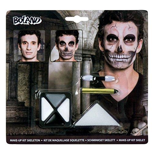 Boland Schminkset Skelett für Halloween | Schminke für Karneval