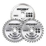 HYCHIKA Lame per Mini Sega circolari, 3 Pezzi Diametro: 85 mm, Pergolato: 10 mm, HC/HS/dia...