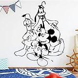 yaonuli Pegatinas de Pared de patrón de Dormitorio Infantil calcomanía de Pared de Vinilo Impermeable Dibujos Animados autoadhesivos 68X74cm
