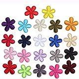 saizone 22 PCS Bunte Bestickte Blumenbeete Aufbügeln, DIY Applique Bekleidungsstoff Zubehör, für Kleidung Kleid Plant Hat Jeans