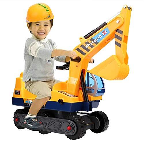 Hikole Excavadora de Asiento Nuevos Juguetes para niños Caterpillar Excavator Truck Toy Excavadora de Arena para niños con Brazo de Cuchara Garra