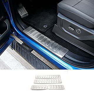 Nicebee Stainless Steel Car Scuff Plate Door Sill Protector Entry Guard Pedals For Ford F150 2015+