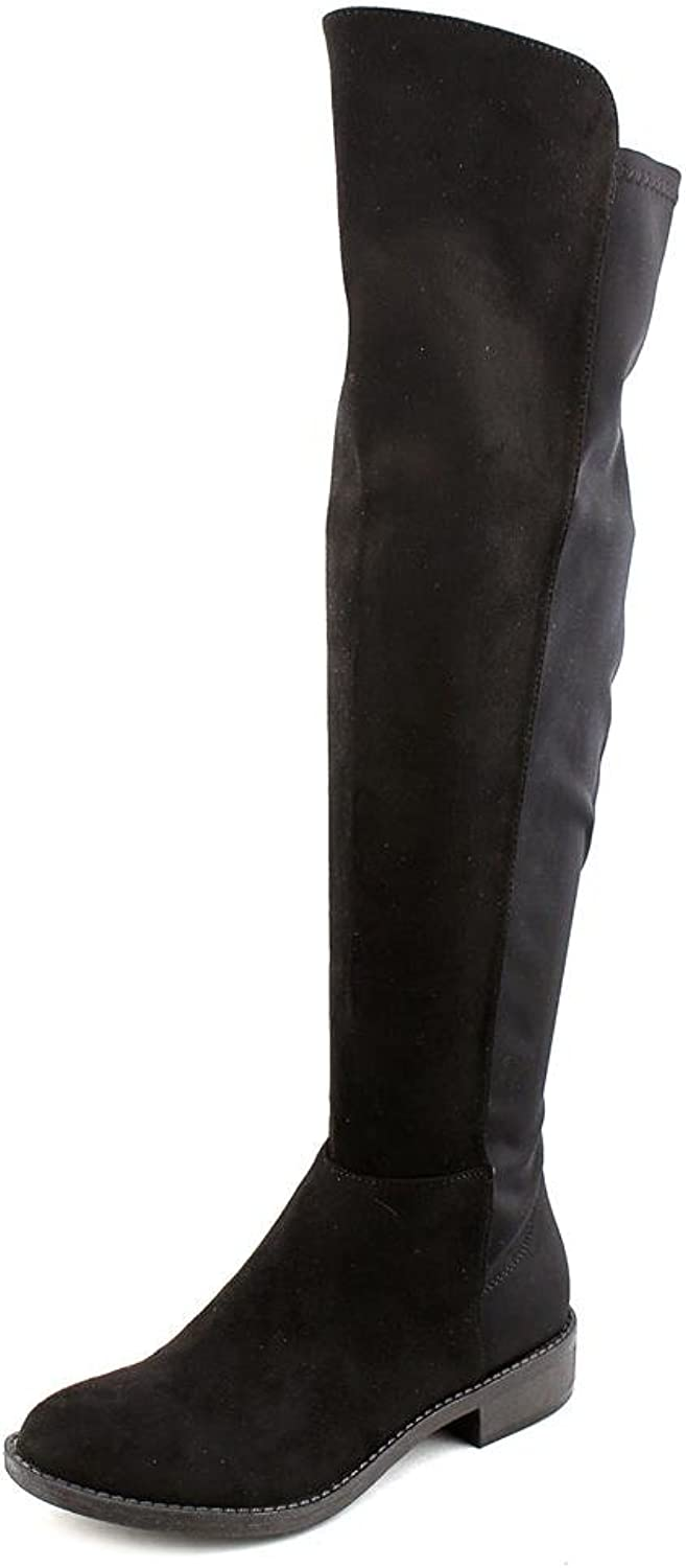 Rebel by Zigi Olaa Over The Knee Stretch Back Boots - Black, 7.5 M US