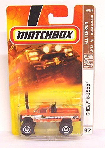 Matchbox Chevy K-1500 Orange High Rider Highly Detailed Issue #97 1/64 2007 by Matchbox