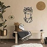 Hoagard Magdalena Carmen Metal Wall Art - Decoración minimalista para pared - Negro - 41x68cm