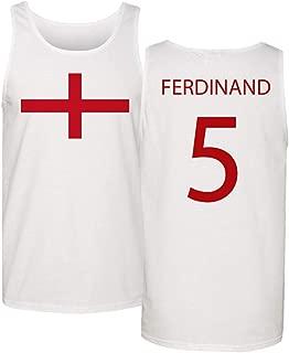 Soccer Legends #5 Rio Ferdinand Jersey Style Men's Tank Top