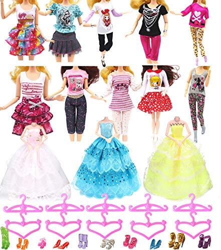 Hey~Yo Ropa de muñeca para Barbie de 33 piezas, 3 piezas, vestido...