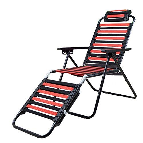 Fauteuil stoelen, Sun Beach Rest Lounge Chair Rug Elasticiteit elastische stof Ademende Verstelbare Klapstoel 420