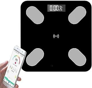 Báscula de Baño digital,Escalas de Grasa Bluetooth, Analizador con iOS & Android APP para Análisis Corporal de Peso, Hidra...