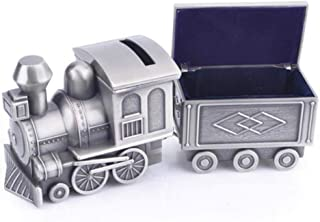 Jinxin-Boxes Metal Retro Jewelry Box Personality Ornaments Children Pull Coal Train Piggy Bank Fun Toys