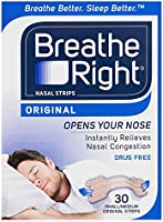 Breathe Right Breathe Right Small/Medium Nasal Congestion and Snoring Aid Strips, Original 30s, Original Small/Medium30 count