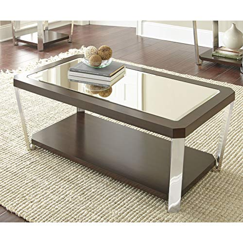 Greyson Living Trimble 48-Inch Rectangle Coffee Table with Mirrored Top by