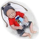 ZIYIUI Reborn Bebe Muñeca 20 Pulgadas 50 cm Cuerpo Suave Muñeca de Silicona Muñeca Real Baby Doll Ni...