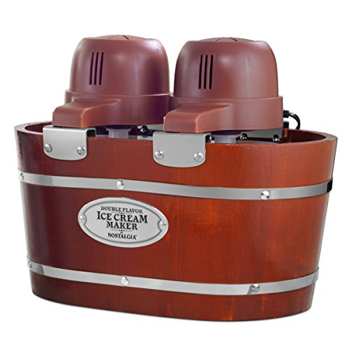 Nostalgia Double Flavor Electric Bucket Ice Cream Maker...