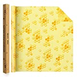 "Jolitac Beeswax Food Wrap Roll 38.5""x14"" Eco-Friendly Reusable Beeswax Wrappers Natural Food Grade Storage Keeps Food Fresh, Alternative To Plastic Bags, Sustainable Products (Honeycomb)"