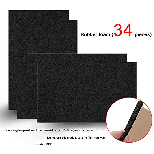 SHINEHOME 150 mil 36 sqft Sound Deadener Deadening Dampening Audio Noise Insulation Heat Insulation Mat Material Self-Adhesive Rubber Waterproof Soundproofing Foam Panel