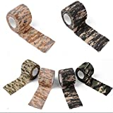 BBYL Self-Adhesive Bandage, for Outdoor Camo Hiking Camping Hunting Camouflage Stealth Tape Wrapssize (Size:4.92 Yard Long1.97 Inch Width)