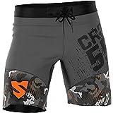 SMMASH Moro Pantalones Cortos para Hombres para Entrenamiento Cruzado (L)