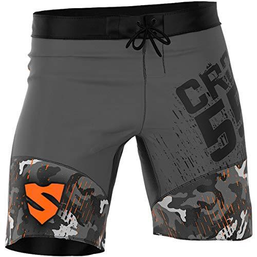 SMMASH Moro Shorts Crossfit Kurze Herren, Perfekt für Grappling, Joggen, Fitness, Gym, Kurze Hose Atmungsaktiv und Leicht, Boxershorts Tights, Trainingshose, Hergestellt in der EU (L)