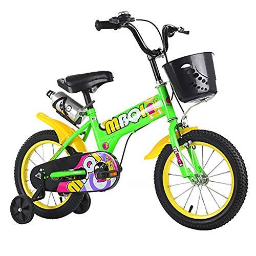 Kids Bike,12' Inch Girls Bicycle with Stabilisers and Basket,Children Mountain Bike