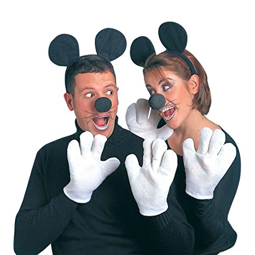 NET TOYS Minnie Maus Kostüm Set Mäuse Kostümset schwarz-weiß Micky Maus Outfit Disney Verkleidung Mauskostüm