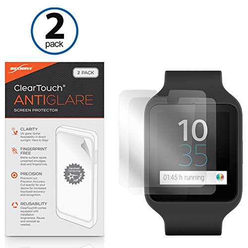 Sony SmartWatch 3 SWR50 Screen Protector, BoxWave® [ClearTouch Anti-Glare (2-Pack)] Anti-vingerafdruk Matte Film Huid voor Sony SmartWatch 3 SWR50