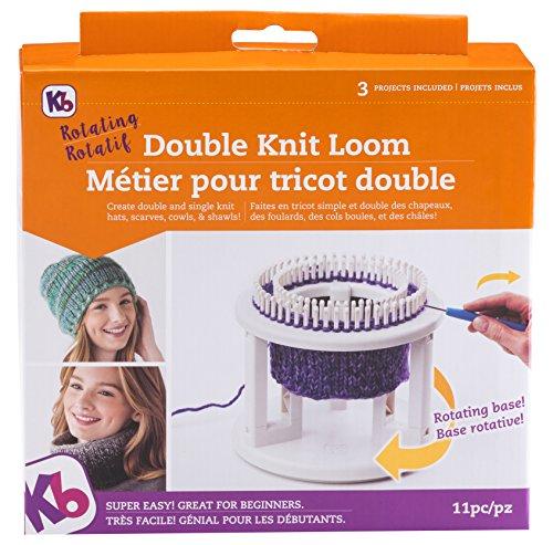 Knitting Board Rotating Double Knit Loom 24cm x 27cm X3.13cm