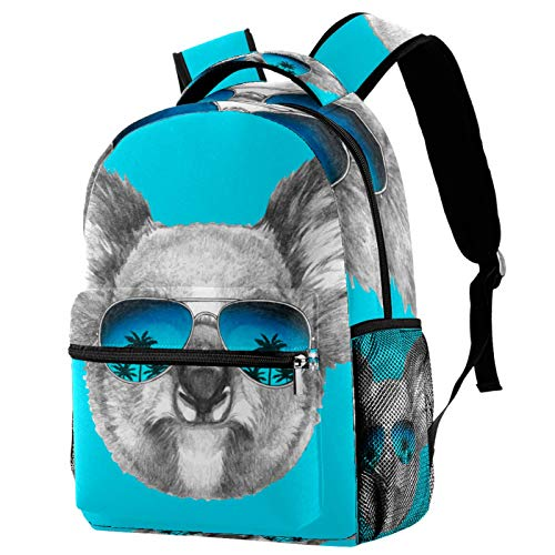 Backpacks for Adults Boys Girls Kids Durable Travel Business Bags Laptop Bags Daypack for School Outdoor Work Blue Koala Mirror Sunglasses