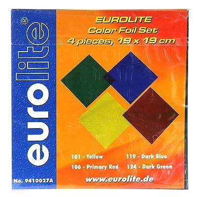 Eurolite 19 x 19 cm Accessory Foil Set in Four Colours