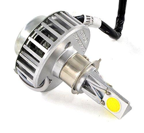 BJ Global Ampoule LED pour phare de moto avec 3 adaptateurs universels Blanc 2000 Lumen 6000 K faisceau 12 W-18 W