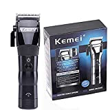 KEMEI Eléctrica de los hombres poderosas herramientas de peinado sin cuerda cortadora cortadora corte de pelo de corte de pelo potente recargable profesional cortadoras