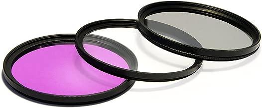 UV Ultra Violet + CPL Circular Polarizer + FLD Fluorescent Filter Kit for Nikon AF-S NIKKOR 16-35mm, 12-24mm, 24-120mm f/4G ED VR IF-ED Lens
