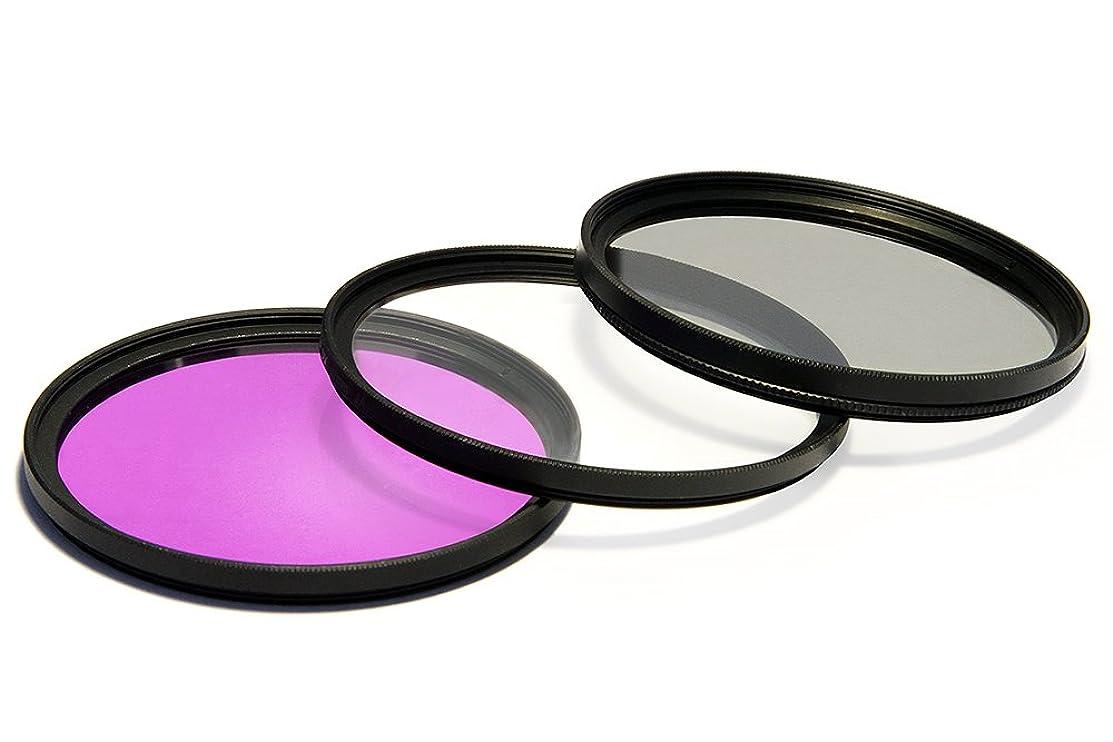 UV Ultra Violet + CPL Circular Polarizer + FLD Fluorescent Filter Kit for Sony HXR-MC2500 Camcorder Video Camera
